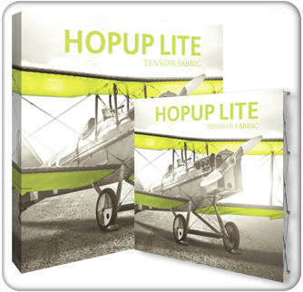 HopUp Lite 8ft Straight Tension Fabric Display product