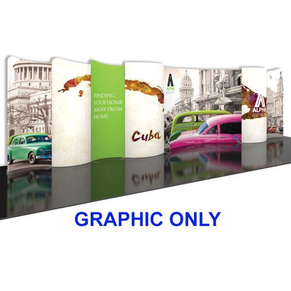 Modulate 30Ft Fabric Backwall Display Graphics
