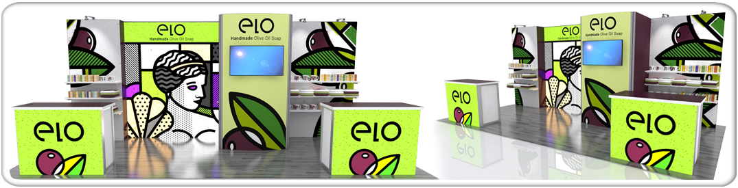 retail elo 20ft modular display system product