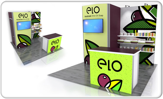 retail elo curved modular display system product