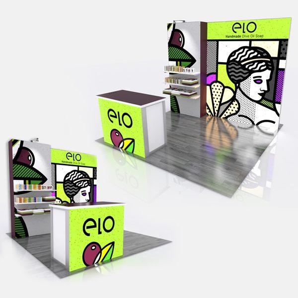 Retail ELO Flat Modular Display System