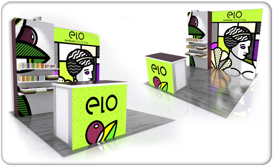 retail elo flat modular display system product