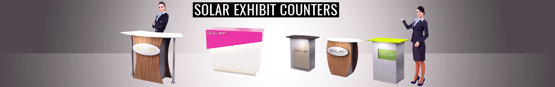 Solar Free Standing Counters