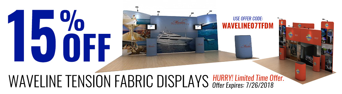 Waveline Tension Fabric Displays July Special Offer