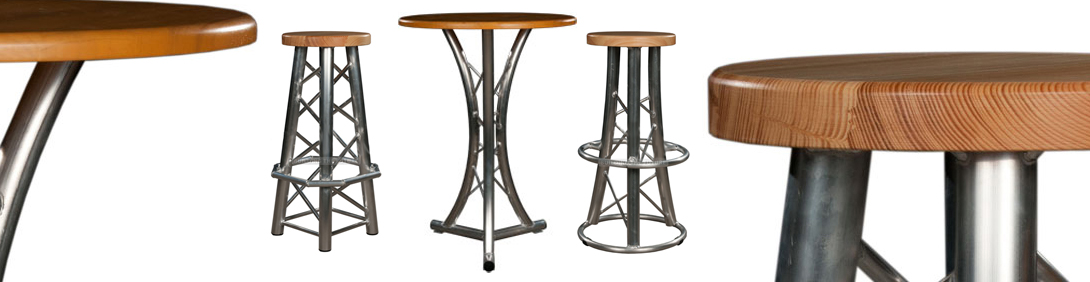 World Truss Table and Trussing Stools