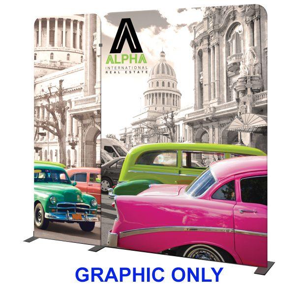 Modulate 10Ft Fabric Backwall Display 4 Graphics