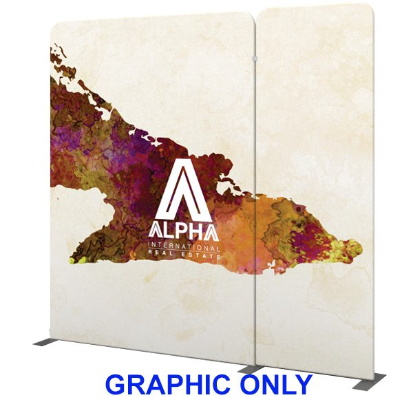 Modulate 10Ft Fabric Backwall Display 6 Graphics