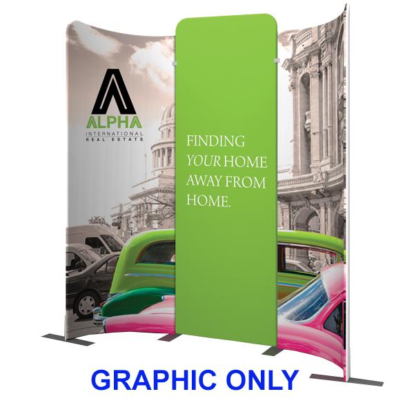 Modulate 10Ft Fabric Backwall Display 9 Graphics