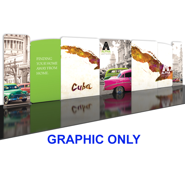 modulate 30ft fabric backwall display 2 graphics