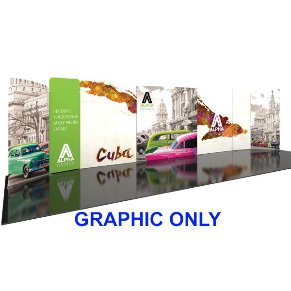 Modulate 30Ft Fabric Backwall Display 3 Graphics