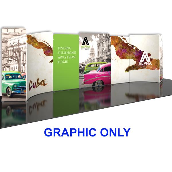 Modulate 30Ft Fabric Backwall Display 4 Graphics