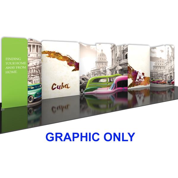 Modulate 30Ft Fabric Backwall Display 5 Graphics