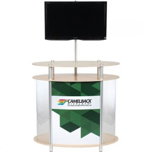 Twist Ellipse Vertical Showcase Kiosk