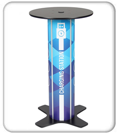 twist round bar table charging station product