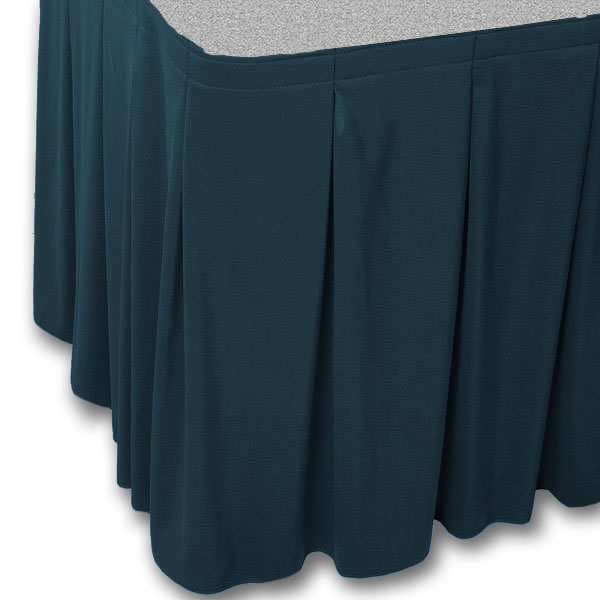 Continuous Pleat Stage Skirting