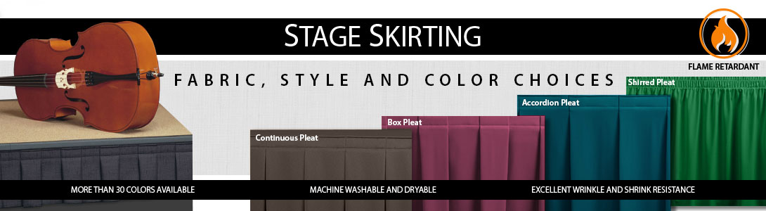 Stage Skirting Colors And Styles