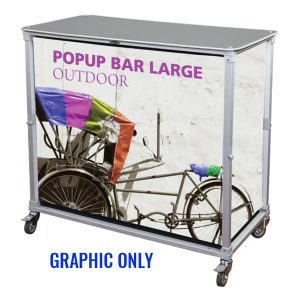 Trade Show Portable Popup Large Bar Graphics