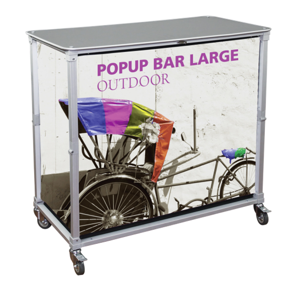 trade show portable popup large bar kit