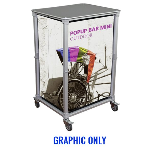 Trade Show Portable Popup Mini Bar Graphics