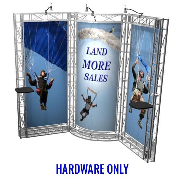 aptos ez-6 truss 10x10 booth hardware