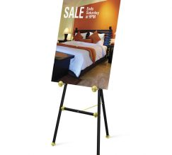 Convention Hotel & Facilities Easels Elegant Easels Black Baroque Finish With Graphic Display