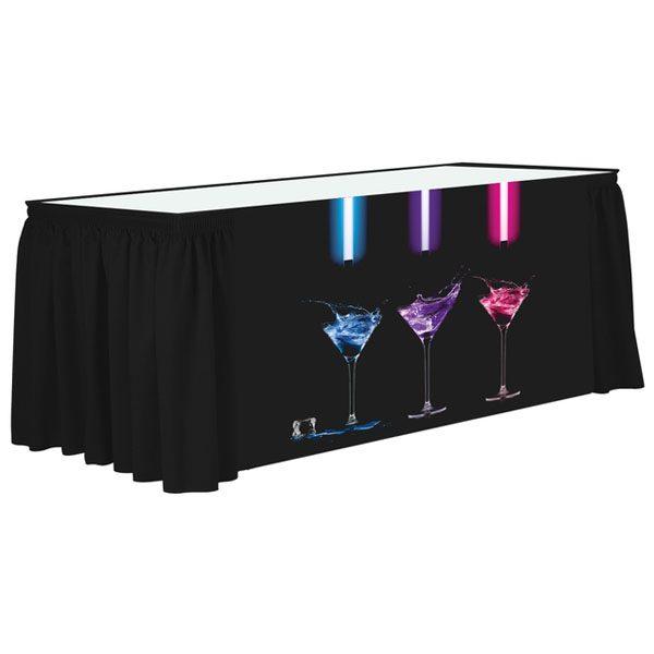 Poly Poplin Digital Printed Shirred Table Skirt