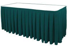 Poly Poplin Box Pleat Blank Table Skirt