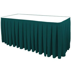 Poly Poplin Box Pleat Blank Table Skirt