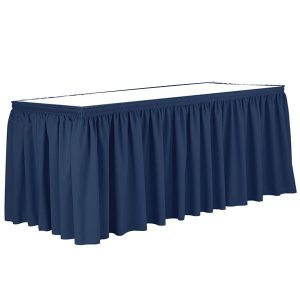 Poly Poplin Shirred Blank Table Skirt