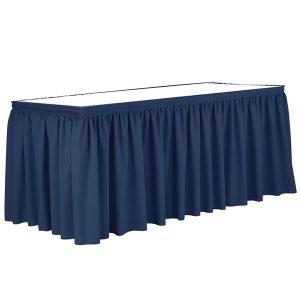 Poly Poplin Shirred Blank Table Skirt