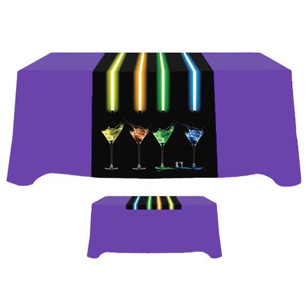 """30"""" x 60"""" Poly Poplin Digital Printed Table Runner"""