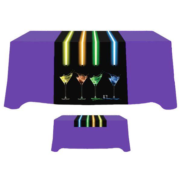 """30"""" x 72"""" Poly Poplin Digital Printed Table Runner"""