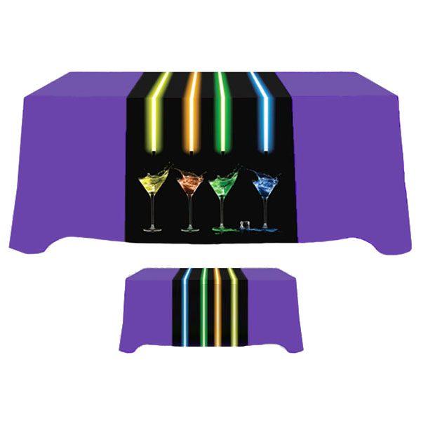 """30"""" x 90"""" Poly Poplin Digital Printed Table Runner"""