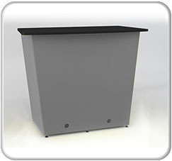 Alumalite Classic Double Wide Free Standing ALC4 Counter Product