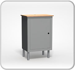 Alumalite Lineare Free Standing Counter 4 Products Wide