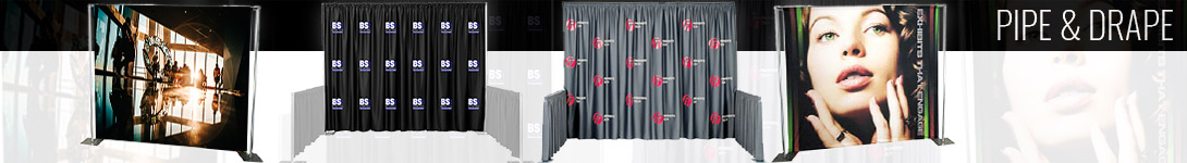 Graphic Walls Get Noticed Pipe & Drape Displays