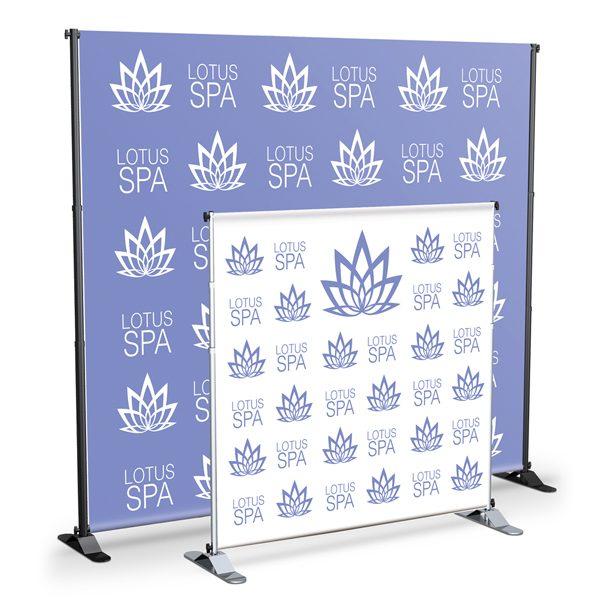 standard adjustable banner stands