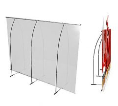PUNTO Banner Stand 10FT Backwall Display Back And Side View