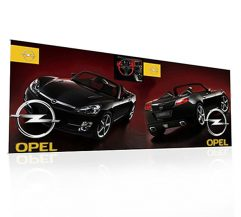 PUNTO Banner Stand 20FT Backwall Display