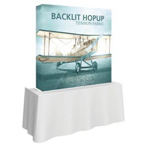 5' Backlit Hop Up Tabletop Tension Fabric Display