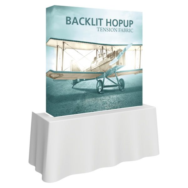 5' Backlit Hop Up Tabletop Tension Fabric Display