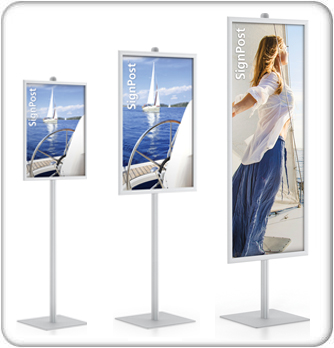 perfex single drop-in frame sign stands product