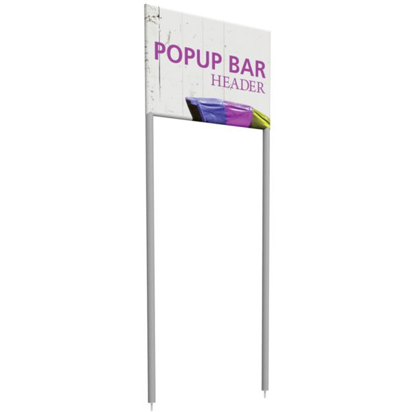 portable popup mini bar header