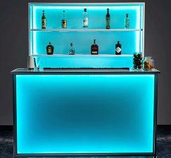 Portable Stadium Bar And Display With LED Lights