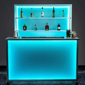 Portable Stadium Bar And Display With LED Lights