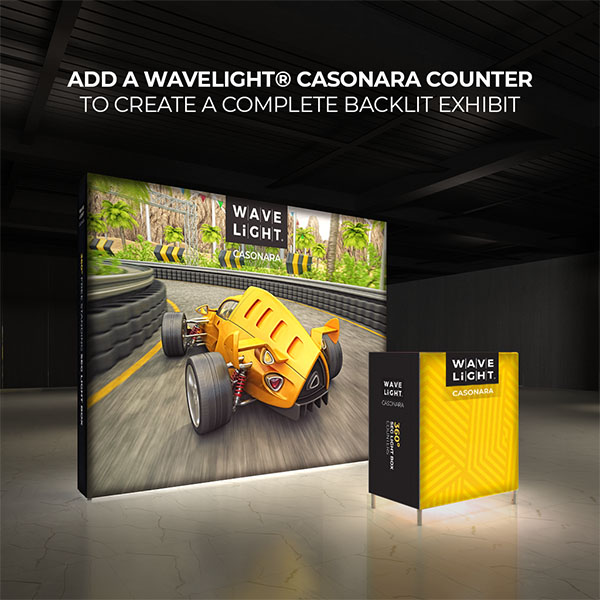 10' WaveLight Casonara LED Backlit Kit Display With Optional Casonara Counter
