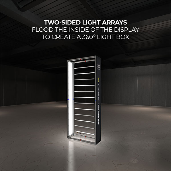 4' WaveLight Casonara LED Backlit Kit Display Two Sided Light Arrays