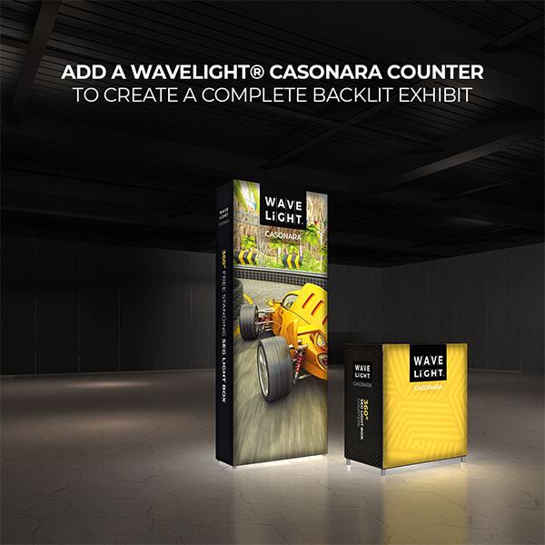 4' WaveLight Casonara LED Backlit Kit Display With Optional Casonara Counter