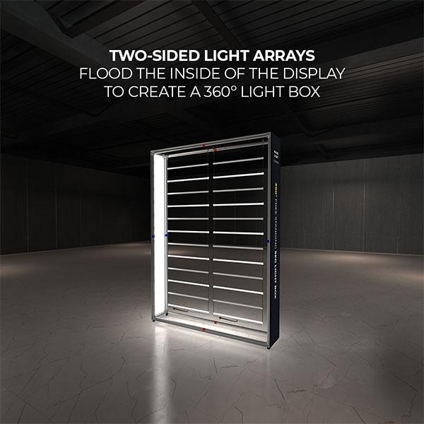 6' WaveLight Casonara LED Backlit Kit Display Two Sided Light Arrays