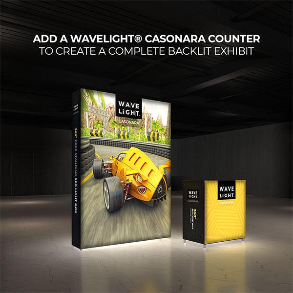 6' WaveLight Casonara LED Backlit Kit Display With Optional Casonara Counter
